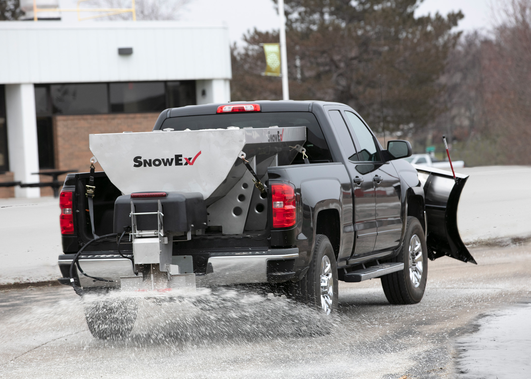 SnowEx® HELIXX™ Stainless Steel Hopper Spreaders Feature Revolutionary Material Delivery System